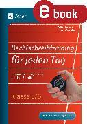 Cover-Bild zu Rechtschreibtraining für jeden Tag 5-6 (eBook) von Hartmann, Silke