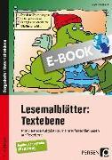 Cover-Bild zu Lesemalblätter: Textebene (eBook) von Kirschbaum, Klara