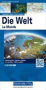 Cover-Bild zu Hallwag Kümmerly+Frey AG (Hrsg.): Welt, physikalisch. 1:30'000'000