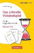 Cover-Bild zu Das schnelle Vokabelspiel, Englisch, Klasse 7/8, Für den Englischunterricht, 30 Lernkarten von Reinhardt, Irena