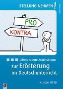 Cover-Bild zu Stellung nehmen! Differenzierte Arbeitsblätter zur Erörterung im Deutschunterricht von Falter, Sabine