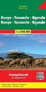 Cover-Bild zu Freytag-Berndt und Artaria KG (Hrsg.): Kenya - Tansania - Uganda - Ruanda, Autokarte 1:2.000.000. 1:2'000'000