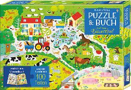 Cover-Bild zu Puzzle & Buch: Auf dem Bauernhof von Robson, Kirsteen