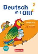 Cover-Bild zu Deutsch mit Olli, Lesen 2-4 - Ausgabe 2021, 2. Schuljahr, Arbeitsheft Leicht / Basis, Mit BOOKii-Funktion von Eutebach, Simone