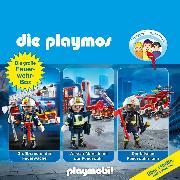 Cover-Bild zu Die Playmos - Das Original Playmobil Hörspiel, Die große Feuerwehr-Box, Folgen 42, 57, 62 (Audio Download) von Fickel, Florian
