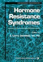 Cover-Bild zu Hormone Resistance Syndromes von Jameson, J. Larry (Hrsg.)