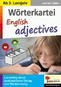 Cover-Bild zu Wörterkartei English adjectives von Vatter, Jochen