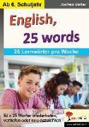 Cover-Bild zu English, 25 words von Vatter, Jochen