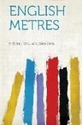 Cover-Bild zu English Metres von Strunk, William