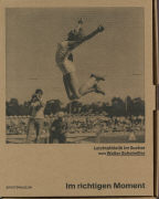 Cover-Bild zu Im richtigen Moment - Leichathletik im Sucher von Stiftung Sportmuseum, Schweiz (Hrsg.)