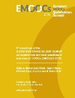Cover-Bild zu Proceedings of the European Stakeholder Summit on experiences and best practices in and around MOOCs (EMOOCS 2016) (eBook) von Khalil, Mohammad (Hrsg.)