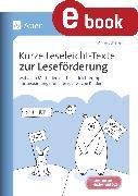 Cover-Bild zu Kurze Leseleicht-Texte zur Leseförderung (eBook) von Scheller, Anne