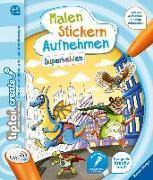 Cover-Bild zu tiptoi® CREATE Malen Stickern Aufnehmen: Superhelden von Weber, Karin