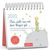 Cover-Bild zu Postkartenkalender Man sieht nur mit dem Herzen gut ... 2021
