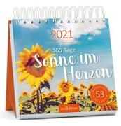 Cover-Bild zu Postkartenkalender 365 Tage Sonne im Herzen 2021