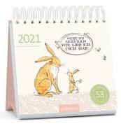 Cover-Bild zu Postkartenkalender Weißt du eigentlich, wie lieb ich dich hab 2021