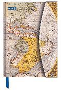 Cover-Bild zu Antique Maps 2021 - Buchkalender - Taschenkalender - 16x22