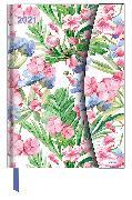 Cover-Bild zu Flower Fantasy 2021 - Diary - Buchkalender - Taschenkalender - 16x22