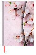 Cover-Bild zu Flowers 2021 - Diary - Buchkalender - Taschenkalender - 16x22