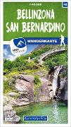 Cover-Bild zu Bellinzona - San Bernardino 45 Wanderkarte 1:40 000 matt laminiert. 1:40'000