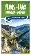 Cover-Bild zu Flims - Laax Lumnezia - Splügen 34 Wanderkarte 1:40 000 matt laminiert. 1:40'000