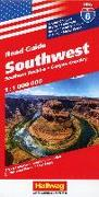 Southwest, Southern Rockies, Canyon Country Strassenkarte 1:1 Mio, Road Guide Nr. 6. 1:1'000'000