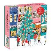 Christmas Carolers Square Boxed 1000 Piece Puzzle