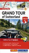 Grand Tour of Switzerland Touring Map Strassenkarte 1:275 000. 1:275'000