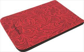 Cover Pocketbook Touch Lux 4+5/Touch HD 3+Colour Comfort Blumen rot