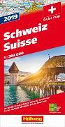 Schweiz 2019 Strassenkarte 1:303 000. 1:303'000
