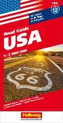 USA Strassenkarte 1:3,8 Mio. Road Guide. 1:3'800'000